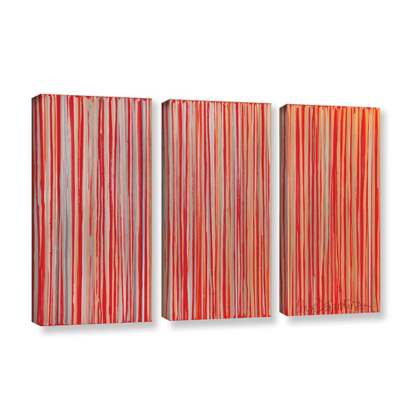 Brushstone Cayenne 3-pc. Gallery Wrapped Canvas Wall Art