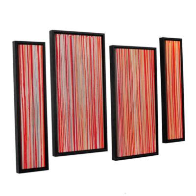 Brushstone Cayenne 4-pc. Floater Framed StaggeredCanvas Wall Art