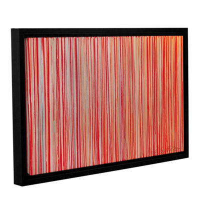 Brushstone Cayenne Gallery Wrapped Floater-FramedCanvas Wall Art