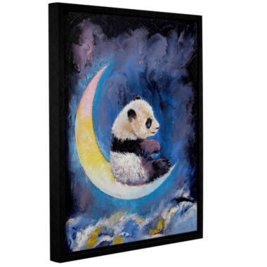 Brushstone Crescent Moon Gallery Wrapped Floater-Framed Canvas Wall Art