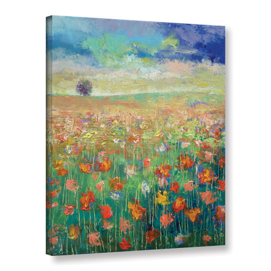 Brushstone Dancing Poppies Gallery Wrapped CanvasWall Art