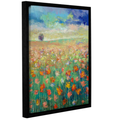 Brushstone Dancing Poppies Gallery Wrapped Floater-Framed Canvas Wall Art