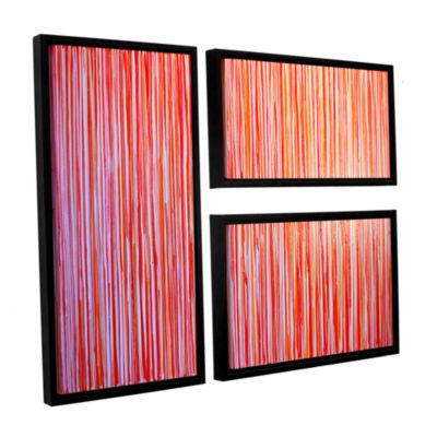 Brushstone Date Night 3-pc. Flag Floater Framed Canvas Wall Art