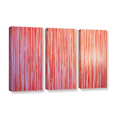 Brushstone Date Night 3-pc. Gallery Wrapped CanvasWall Art