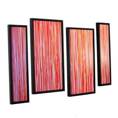 Brushstone Date Night 4-pc. Floater Framed Staggered Canvas Wall Art