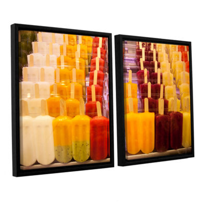 Brushstone Popsicle 2-pc. Floater Framed Canvas Wall Art