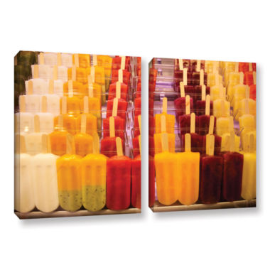 Brushstone Popsicle 2-pc. Gallery Wrapped Canvas Wall Art