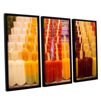 Brushstone Popsicle 3-pc. Floater Framed Canvas Wall Art