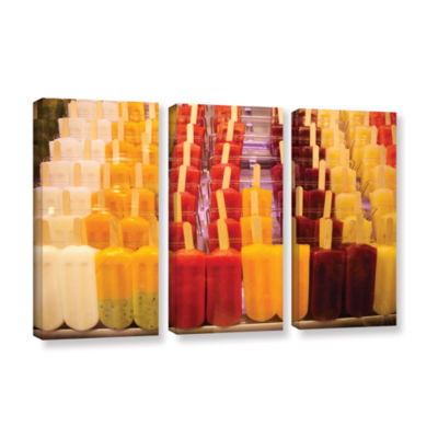 Brushstone Popsicle 3-pc. Gallery Wrapped Canvas Wall Art