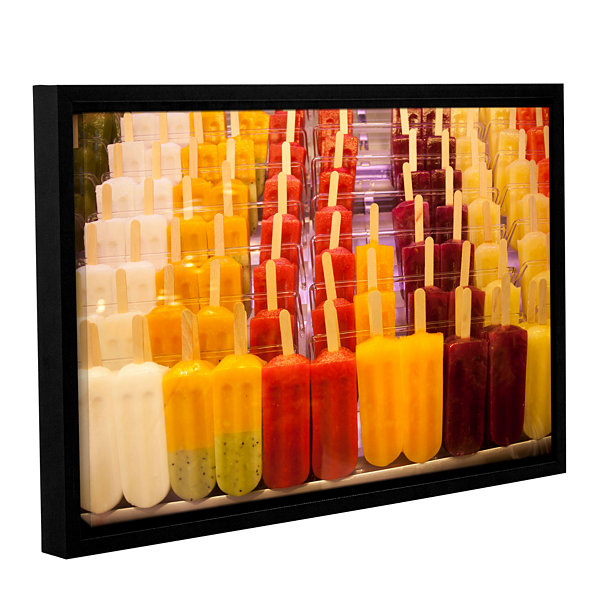 Brushstone Popsicle Gallery Wrapped Floater-FramedCanvas Wall Art
