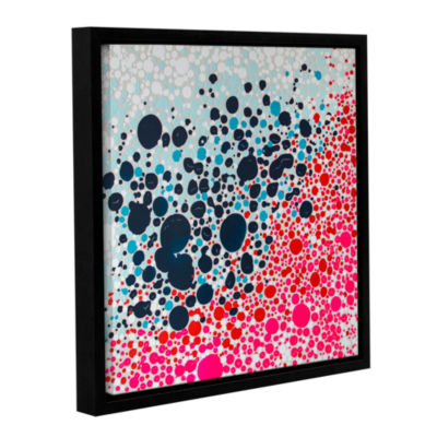 Brushstone Puddles Of People Gallery Wrapped Floater-Framed Canvas Wall Art
