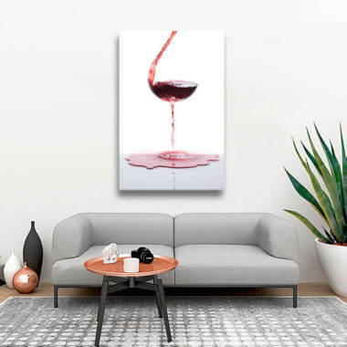 Brushstone Red Wine Gallery Wrapped Canvas Wall Art