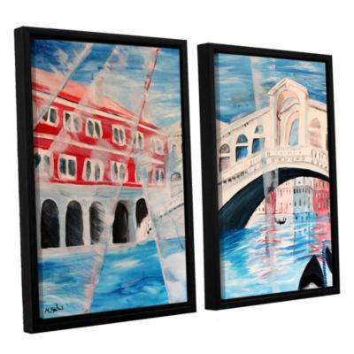 Brushstone Rialto Bridge 2-pc. Floater Framed Canvas Wall Art