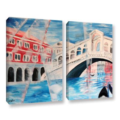 Brushstone Rialto Bridge 2-pc. Gallery Wrapped Canvas Wall Art