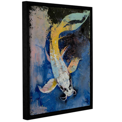 Brushstone Dragon Koi Gallery Wrapped Floater-Framed Canvas Wall Art