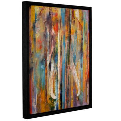 Brushstone Elephant Gallery Wrapped Floater-FramedCanvas Wall Art