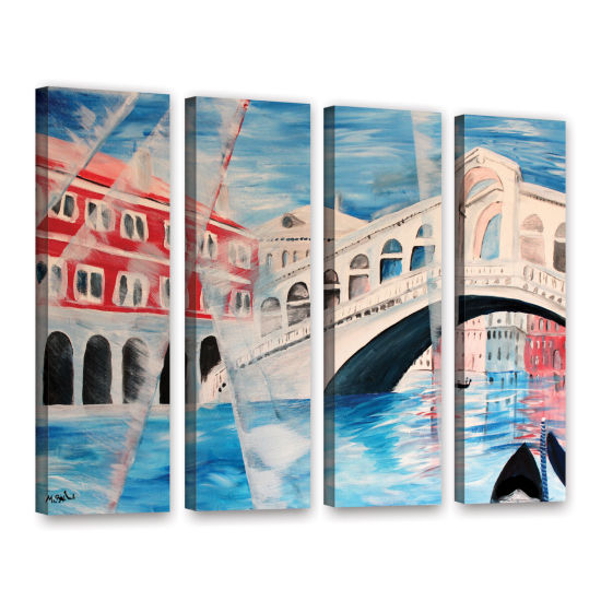 Brushstone Rialto Bridge 4-pc. Gallery Wrapped Canvas Wall Art