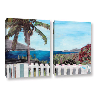 Brushstone English Harcour Antigua Ocean View 2-pc. Gallery Wrapped Canvas Wall Art