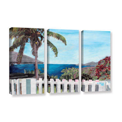 Brushstone English Harcour Antigua Ocean View 3-pc. Gallery Wrapped Canvas Wall Art