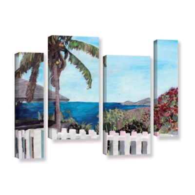 Brushstone English Harcour Antigua Ocean View 4-pc. Gallery Wrapped Staggered Canvas Wall Art