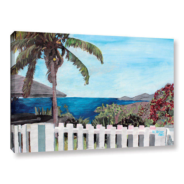 Brushstone English Harcour Antigua Ocean View Gallery Wrapped Canvas Wall Art