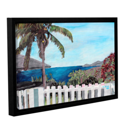 Brushstone English Harcour Antigua Ocean View Gallery Wrapped Floater-Framed Canvas Wall Art