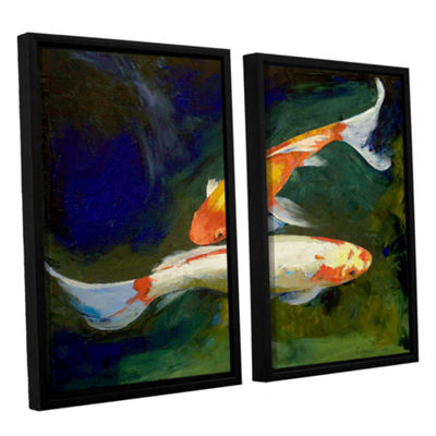 Brushstone Feng Shui Koi Fish 2-pc. Floater FramedCanvas Wall Art