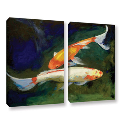 Brushstone Feng Shui Koi Fish 2-pc. Gallery Wrapped Canvas Wall Art