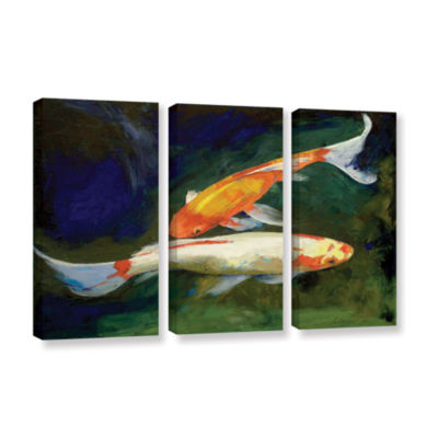 Brushstone Feng Shui Koi Fish 3-pc. Gallery Wrapped Canvas Wall Art