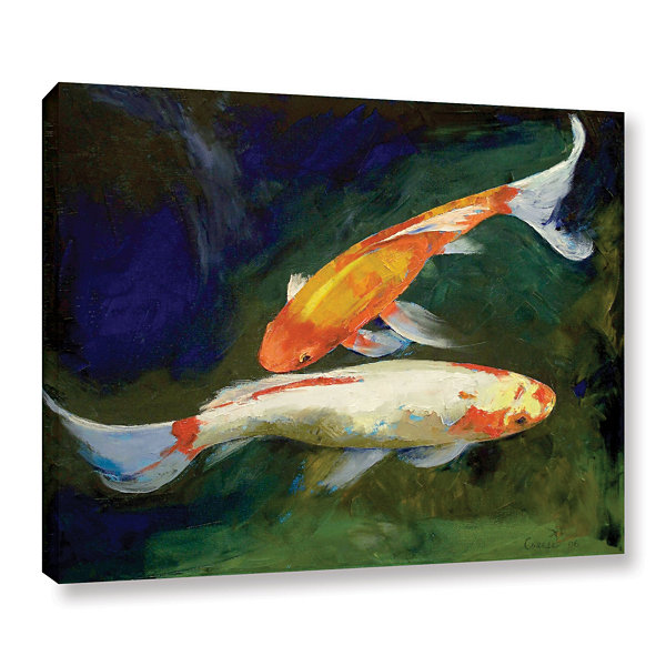 Brushstone feng shui koi fish gallery wrapped canvas wall for Where to buy koi fish near me