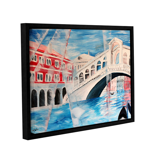 Brushstone Rialto Bridge Gallery Wrapped Floater-Framed Canvas Wall Art