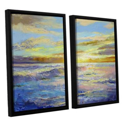 Brushstone Florida Sunrise 2-pc. Floater Framed Canvas Wall Art