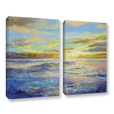 Brushstone Florida Sunrise 2-pc. Gallery Wrapped Canvas Wall Art