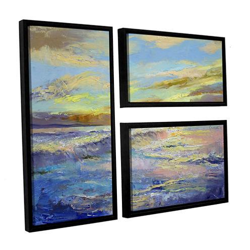 Brushstone Florida Sunrise 3-pc. Flag Floater Framed Canvas Wall Art