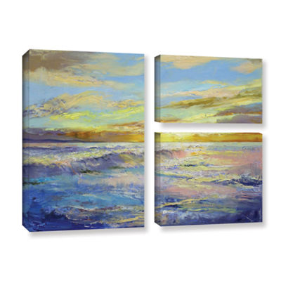 Brushstone Florida Sunrise 3-pc. Flag Gallery Wrapped Canvas Wall Art