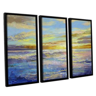 Brushstone Florida Sunrise 3-pc. Floater Framed Canvas Wall Art