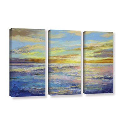 Brushstone Florida Sunrise 3-pc. Gallery Wrapped Canvas Wall Art