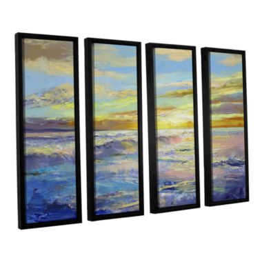 Brushstone Florida Sunrise 4-pc. Floater Framed Canvas Wall Art