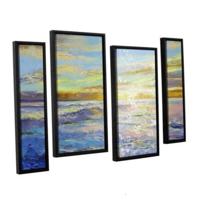 Brushstone Florida Sunrise 4-pc. Floater Framed Staggered Canvas Wall Art