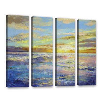 Brushstone Florida Sunrise 4-pc. Gallery Wrapped Canvas Wall Art