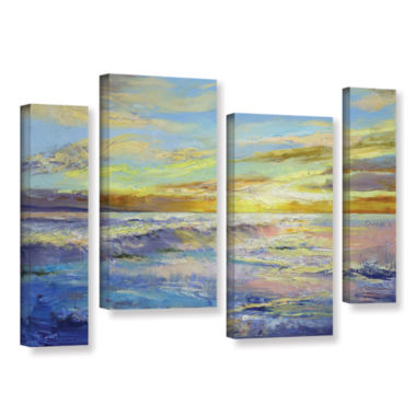 Brushstone Florida Sunrise 4-pc. Gallery Wrapped Staggered Canvas Wall Art