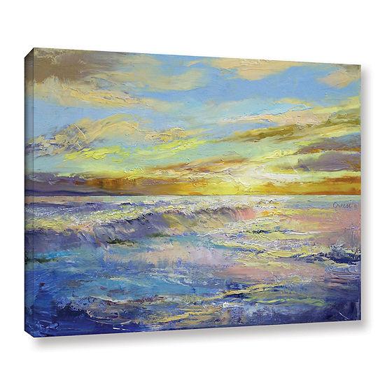 Brushstone Florida Sunrise Gallery Wrapped CanvasWall Art