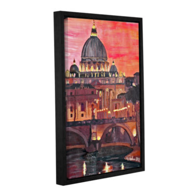 Brushstone Rome Eternal City with Vatican GalleryWrapped Floater-Framed Canvas Wall Art