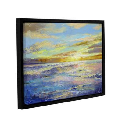 Brushstone Florida Sunrise Gallery Wrapped Floater-Framed Canvas Wall Art