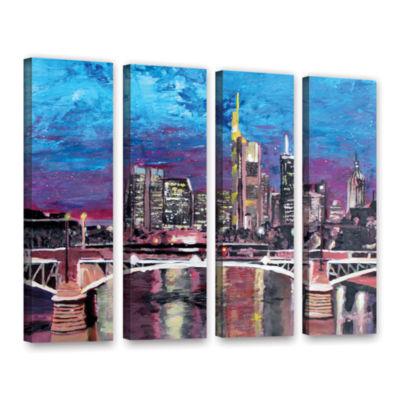 Brushstone Frankfurt Manhattan Skyline 4-pc. Gallery Wrapped Canvas Wall Art