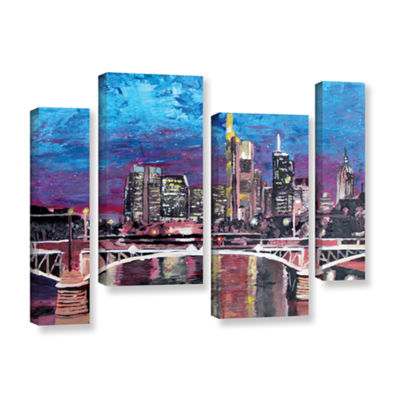 Brushstone Frankfurt Manhattan Skyline 4-pc. Gallery Wrapped Staggered Canvas Wall Art
