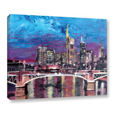 Brushstone Frankfurt Manhattan Skyline Gallery Wrapped Canvas Wall Art