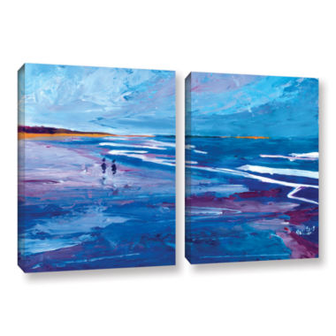 Brushstone Seascape Near Big Sur 2-pc. Gallery Wrapped Canvas Wall Art