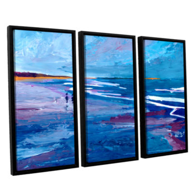Brushstone Seascape Near Big Sur 3-pc. Floater Framed Canvas Wall Art