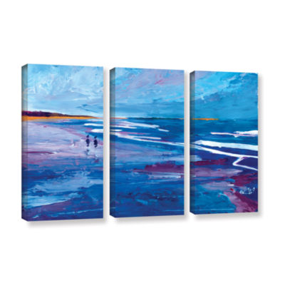 Brushstone Seascape Near Big Sur 3-pc. Gallery Wrapped Canvas Wall Art